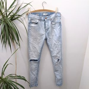 Topshop Men's Ripped Jeans